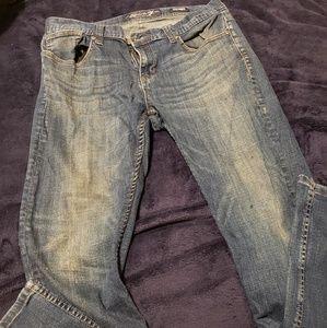 Seven Destroyed Wash Skinny Jeans